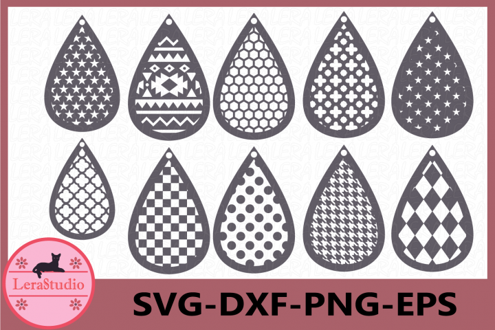 Earrings SVG, Tear Drop Svg, Earrings SVG