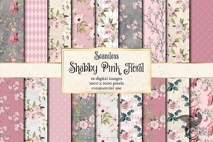 Shabby Pink Floral Digital Paper