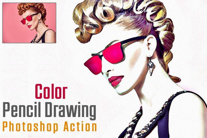 Color Pencil Drawing Photoshop Action