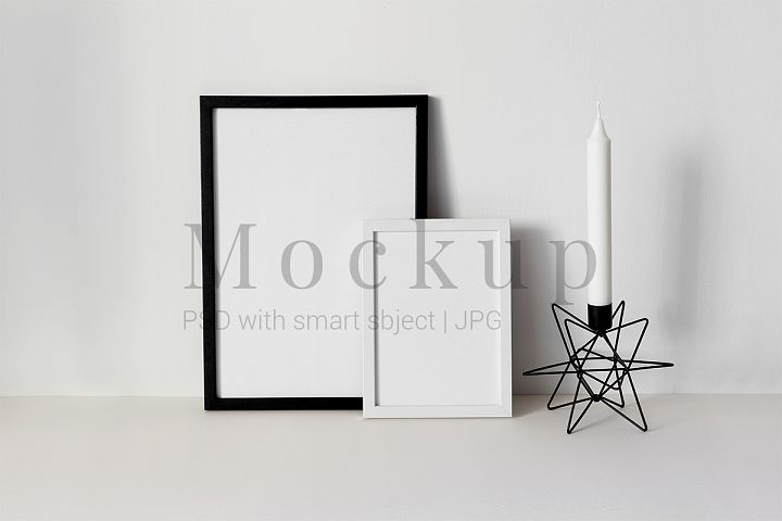 Black and white Photo Frame Mockup