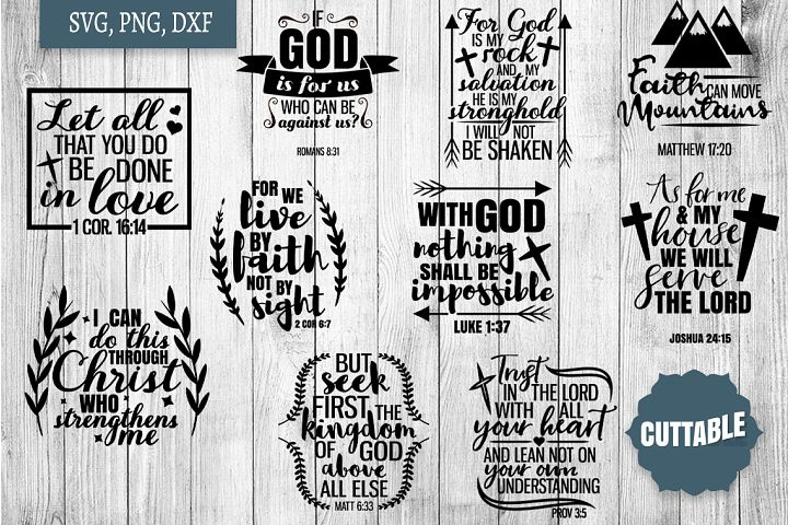 God quote SVG bundle, Bible quote cut file, Bible verse SVGs