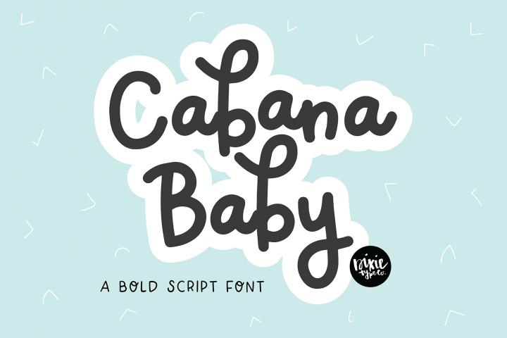 CABANA BABY A Bold Script Monoline .OTF Font
