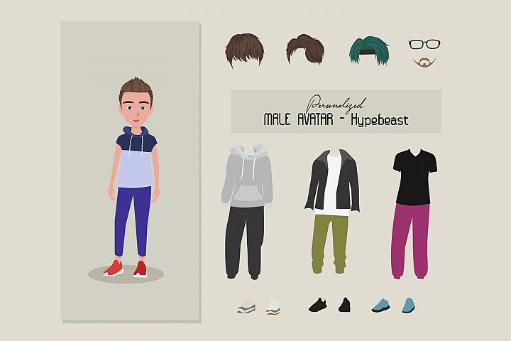 Personnalized male avatar - hypebeast