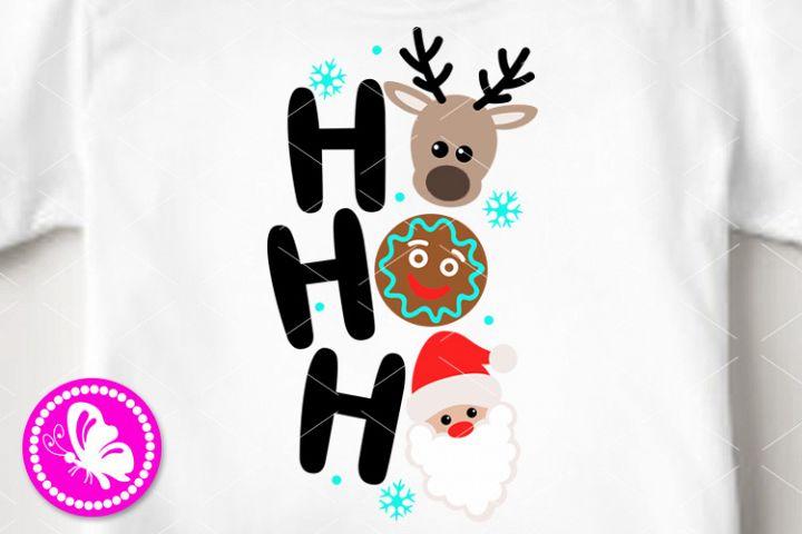 Ho ho ho svg Christmas reindeer svg Cookie Santa squad Xmas