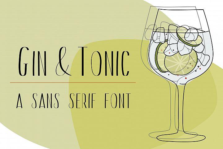 Gin And Tonic | Sans Serif Font Duo