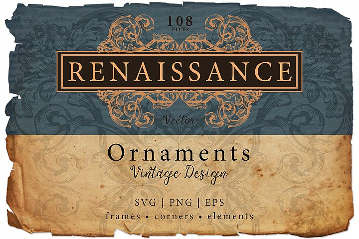SVG Page decoration Ornate Vintage