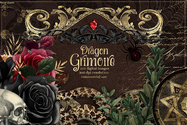 Dragon Grimoire Digital Scrapbooking Kit