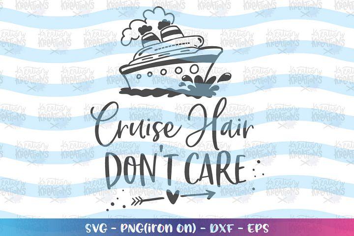 Cruise ships -cruise ship hair dont care 2SVG