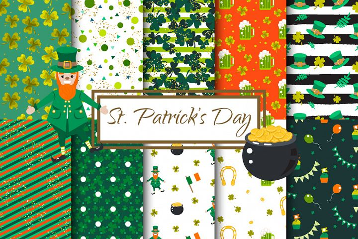 St. Patricks Day Vector Patterns