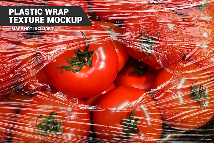Transparent Plastic Wrap Texture Mockup