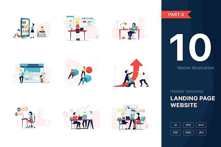 Website illustrations set - Part 04