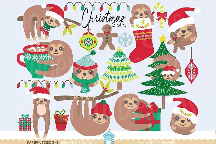Christmas Clipart Sloth