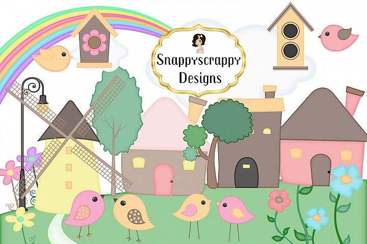Cute Home Birds Clipart