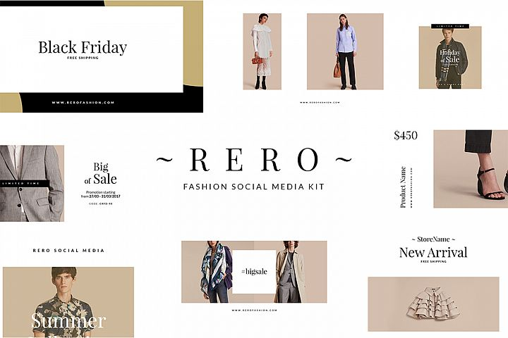 Rero Fashion Social Media Kit