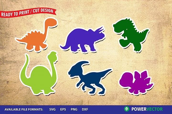 Dinosaurs SVG | Kiddie Animals Clipart