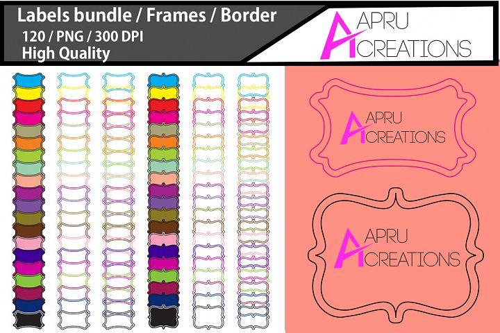Empty Labels and Frames / 120 blank frames bundle