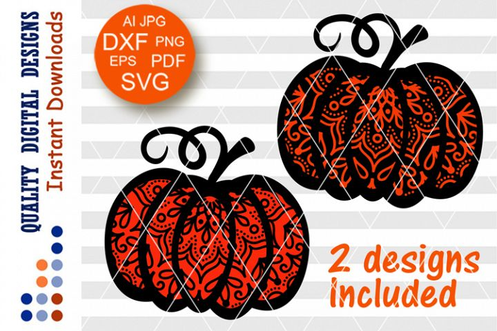 BUNDLE Thanksgiving svg Zentangle Pumpkin clipart Mandala