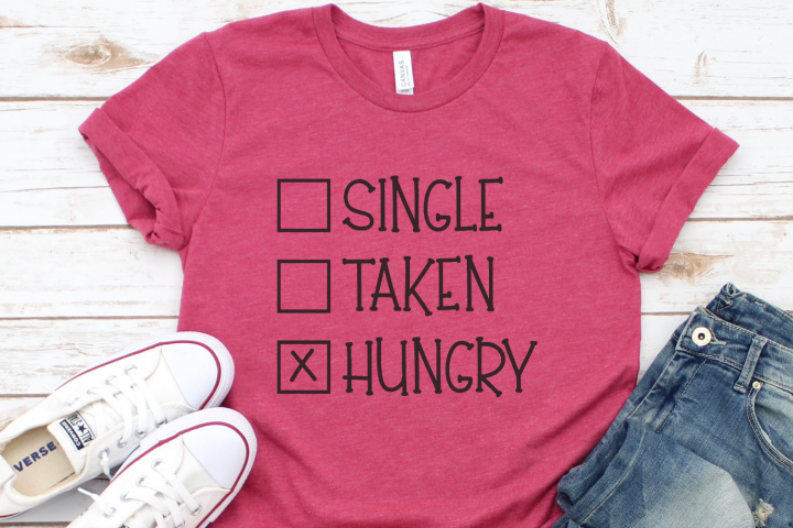 Valentine - Taco - Single Taken Hungry SVG
