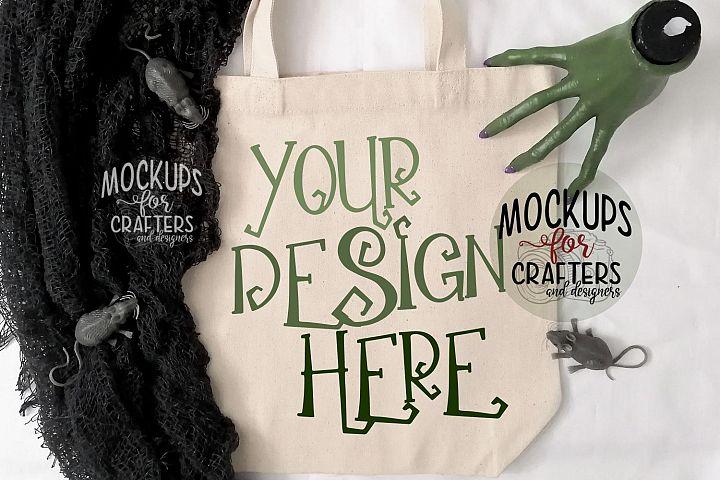 Halloween Treat Bag, Tote Bag, Mock-Up BONUS INCLUDED