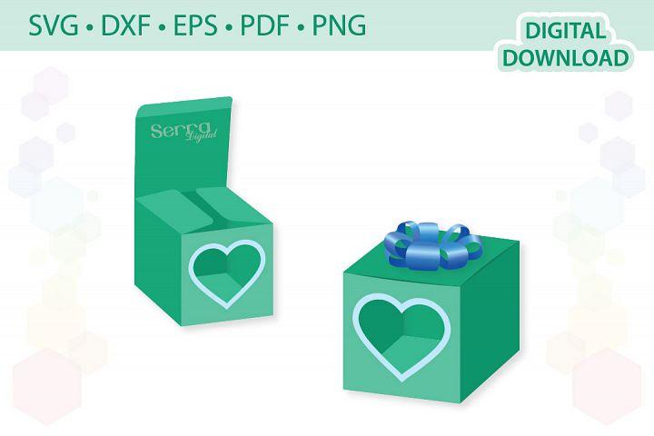 Heart Window Box cut file