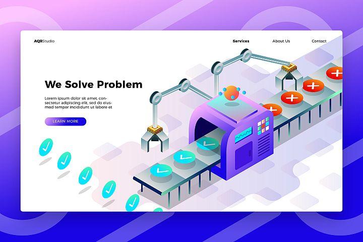 Problem Fixer - Banner & Landing Page