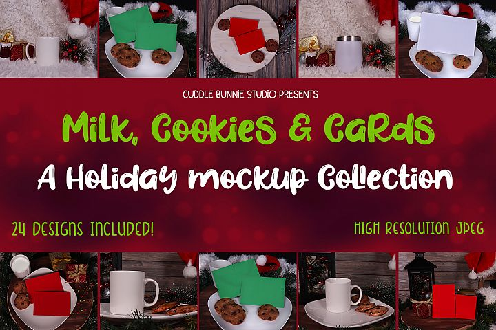 Holiday Mockup Collection| Cups and Cards Mockups