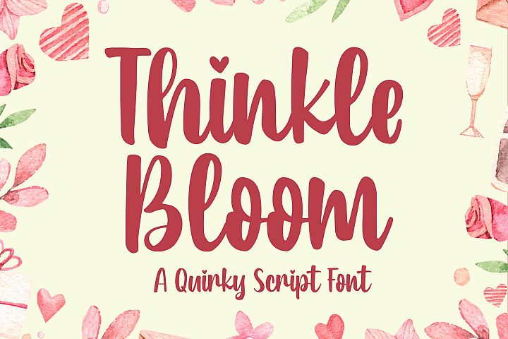 Thinkle Bloom - a Quirky Font example image 1
