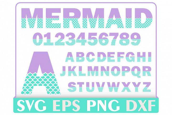 Mermaid Alphabet Letter Svg, Instant Download, Cut File