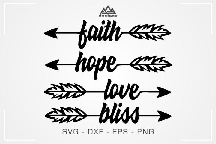 Faith Hope Love Arrow Svg Design