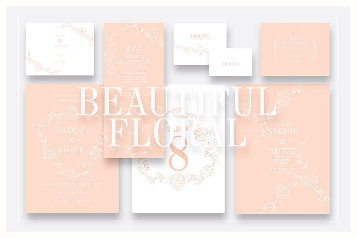 Beautiful Floral Wedding Suite Ac.09