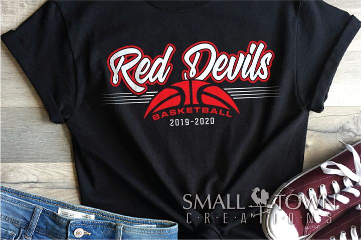 Red Devil, basketball, Sports,Team, PRINT, CUT & DESIGN