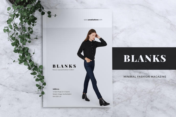 BLANKS | Minimal Lookbook/Magazines