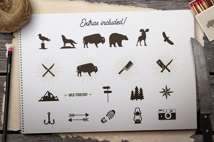 Wild Animals Badges - Free Design of The Week Design4