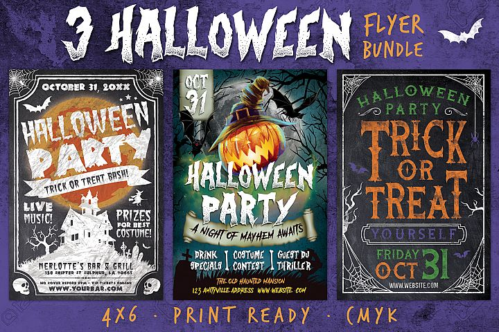 Halloween Chalk Flyer Bundle
