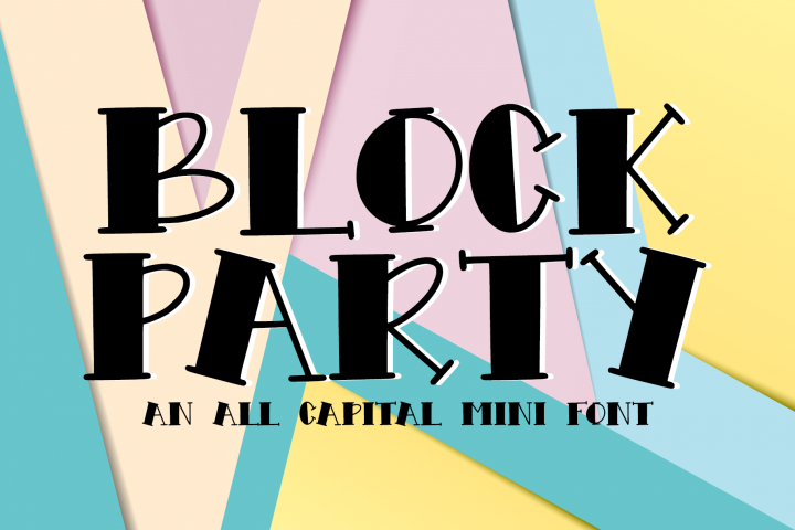 Block Party - An All Caps Mini Font