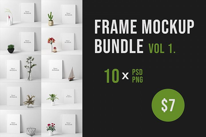 Frame Mockup Bundle Vol. 1
