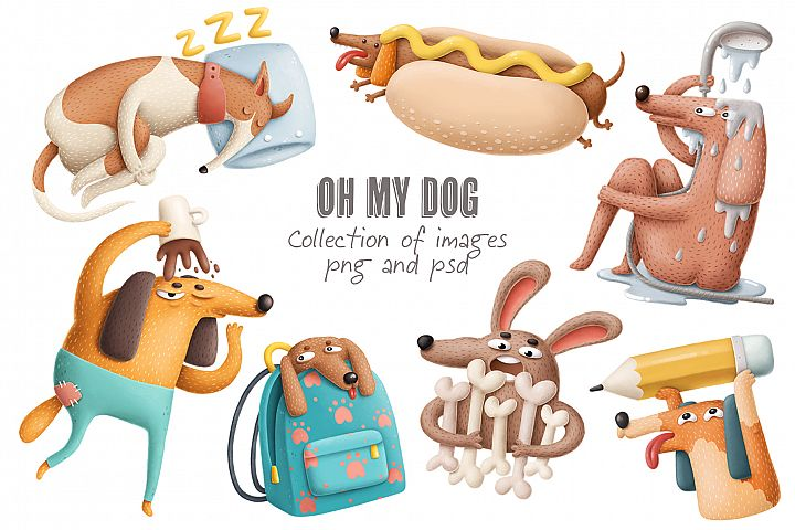 Dogs characters collection