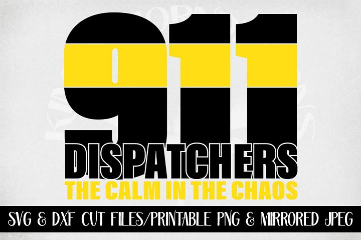 911 Dispatcher SVG The Calm In The Chaos