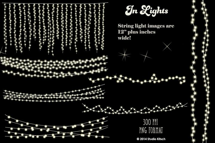 String Lights Clip-Art + Bonus