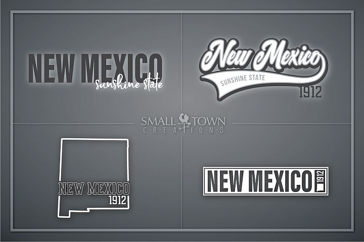 New Mexico, Sunshine State - slogan, PRINT, CUT & DESIGN