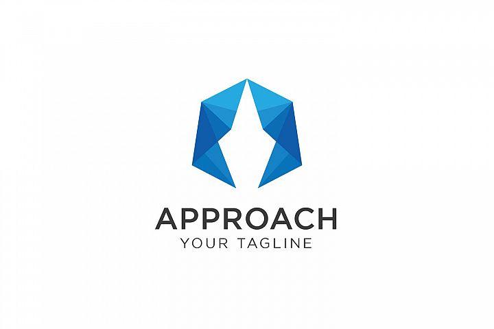 Polygonal Initial A Logo