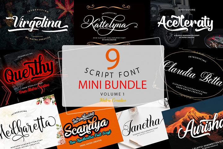 Mini Bundles Fonts
