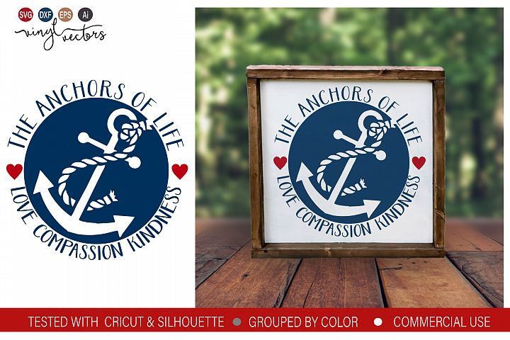 The anchors of life SVG DXF PNG Cut File