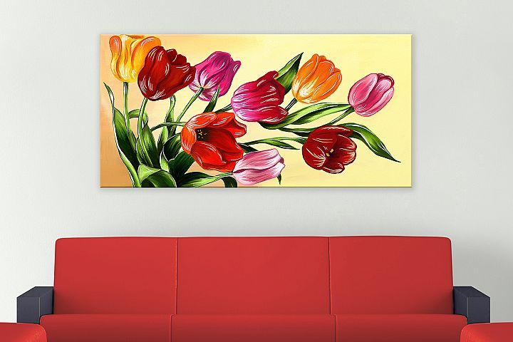 Tulips digital painting example 4