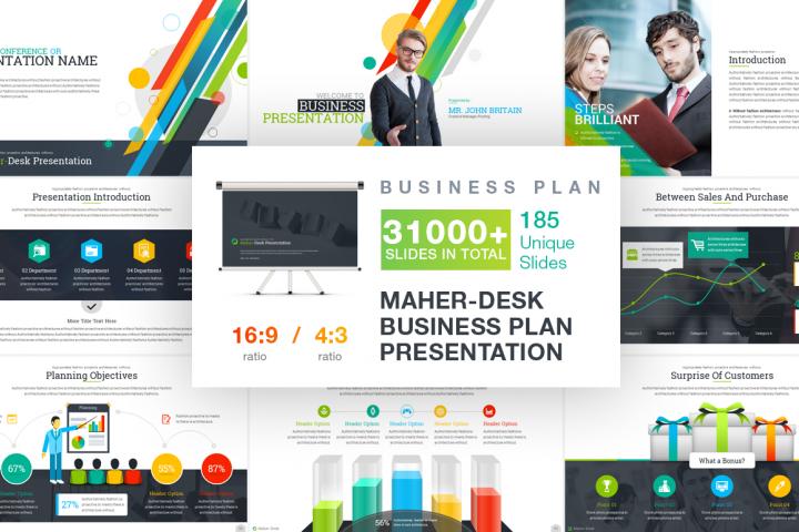 Mahir-Desk_Business PowerPoint Template