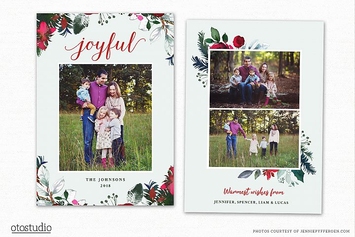 Christmas Card Template for Photographers CC198