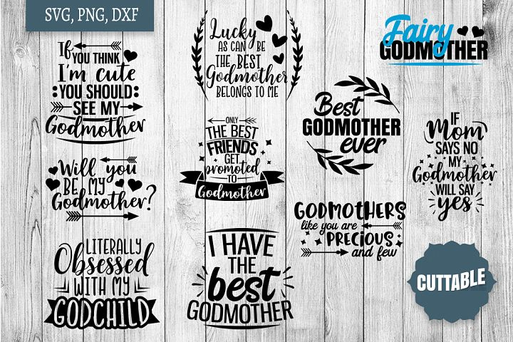 Godmother SVG bundle, Godmother quote cut files