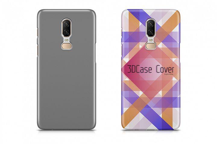 One Plus 6 3d Case Design Mock-up Back View