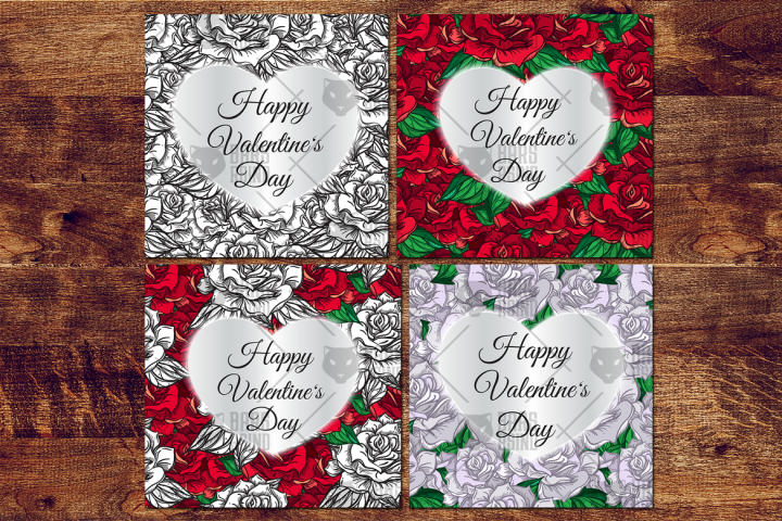 Valentines Day Cards With Roses