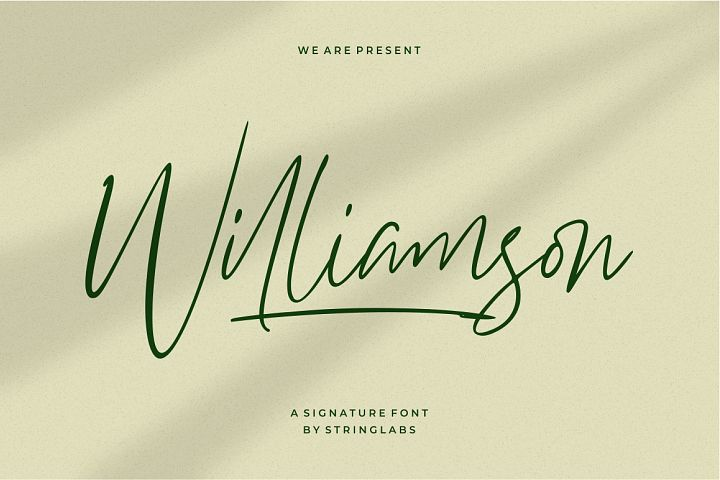 Williamson - Luxury Signature Font